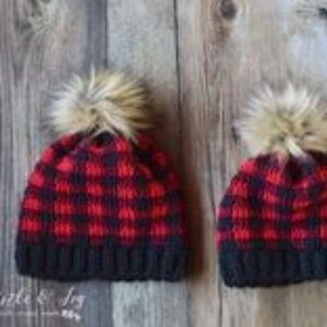Buffalo plaid hats
